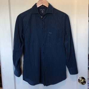 Faconnable like new blue corduroy shirt